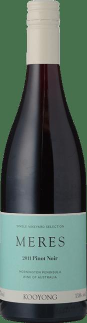 KOOYONG WINES Meres Pinot Noir, Mornington Peninsula 2011