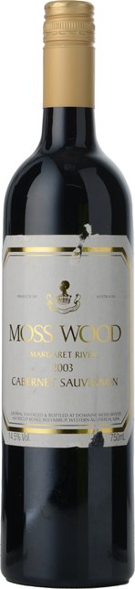 MOSS WOOD Moss Wood Vineyard Cabernet Sauvignon, Margaret River 2003