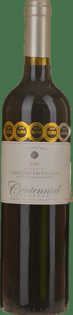 CENTENNIAL VINEYARDS Reserve Single Vineyard Unfiltered Cabernet, Orange 2008
