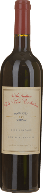 GIBSON Australian Old Vine Collection Shiraz, Barossa 2002