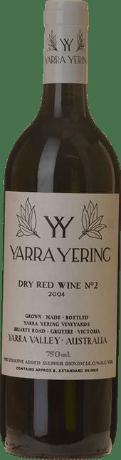 YARRA YERING Dry Red Wine No.2 Shiraz, Yarra Valley 2004