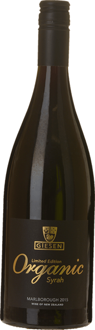 GIESEN ESTATE WINES Limited Edition Organic Syrah, Marlborough 2015