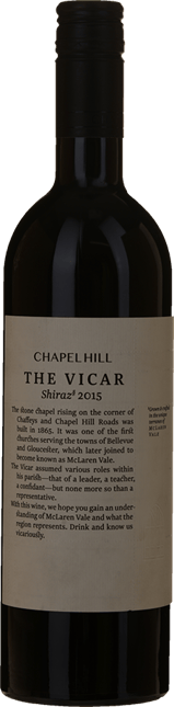 CHAPEL HILL The Vicar Shiraz, McLaren Vale 2015