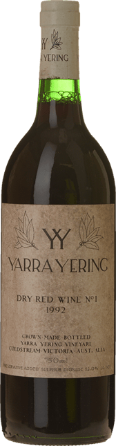 YARRA YERING Dry Red Wine No.1 Cabernets, Yarra Valley 1992