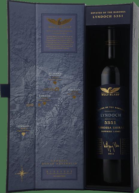 WOLF BLASS WINES Sapphire Label 5351 Lyndoch Shiraz, Barossa Valley 2012