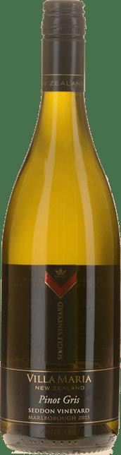 VILLA MARIA Seddon Vineyard Pinot Gris, Marlborough 2015