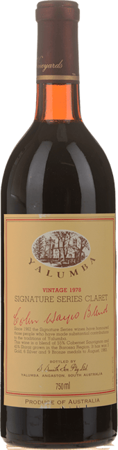 YALUMBA Colin Hayes Signature Series Dry Red, Barossa Valley 1978