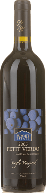 SUMMIT ESTATE Single Vineyard Petit Verdot, Granite Belt 2005