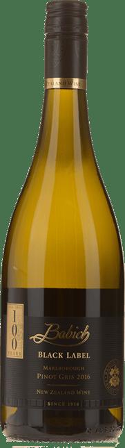BABICH WINES Black Label Pinot Gris, Marlborough 2016