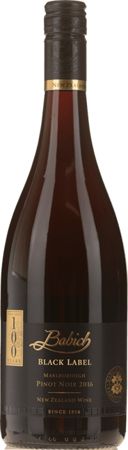 BABICH WINES Black Label Pinot Noir, Marlborough 2016