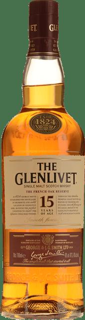 THE GLENLIVET French Oak Reserve 15 Years Old 40% ABV Single Malt Whisky NV