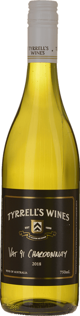 TYRRELL'S Vat 91 Chardonnay, Hunter Valley 2018