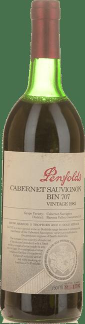 PENFOLDS Bin 707 Cabernet Sauvignon, South Australia 1982