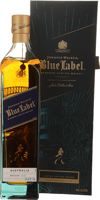 JOHNNIE WALKER Blue Label Scotch Whisky Australia Limited Edition Design 46% ABV, Scotland NV