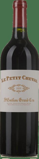 LE PETIT CHEVAL Second wine of Chateau Cheval Blanc, St-Emilion 2005