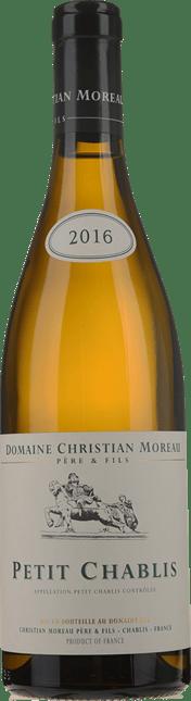 DOMAINE CHRISTIAN MOREAU, Petit Chablis 2016
