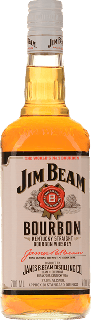 JIM BEAM White Label Bourbon 37% ABV, Kentucky NV