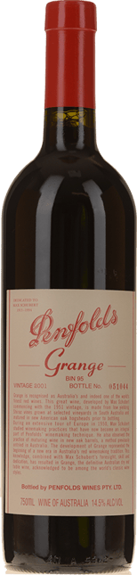 PENFOLDS Bin 95 Grange Shiraz, South Australia 2001