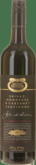 BROWN BROTHERS Cabernet Mondeuse Shiraz, Milawa 2013
