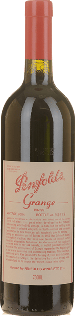 PENFOLDS Bin 95 Grange Shiraz, South Australia 2004