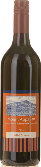 MOUNT APPALLAN Shiraz, Biggenden 2003