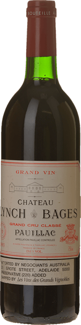 CHATEAU LYNCH-BAGES 5me cru classe, Pauillac 1993