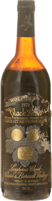 WOLF BLASS WINES Black Label, South Australia 1979