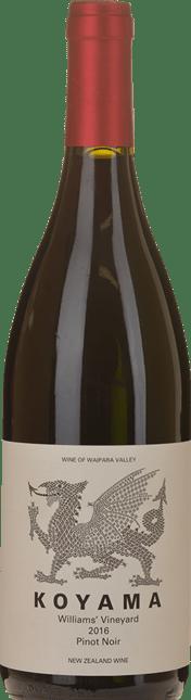 KOYAMA William's Vineyard Pinot Noir, Waipara 2016