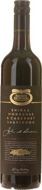 BROWN BROTHERS Shiraz Mondeuse Cabernet, King Valley 2013