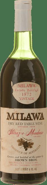 MILAWA Dry Red Table Wine Shiraz Mondeuse, Milawa 1972