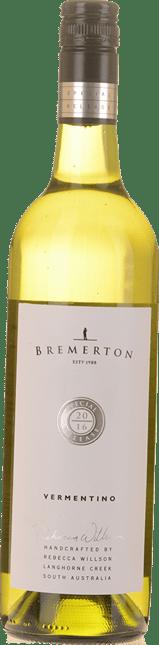 BREMERTON WINES Special Release Vermentino, Langhorne Creek 2016
