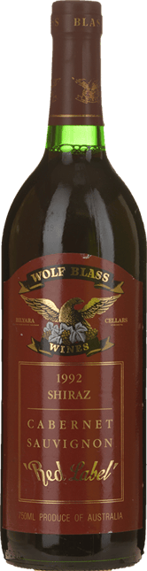WOLF BLASS WINES Red Label Shiraz Cabernet Blend, South Australia 1992