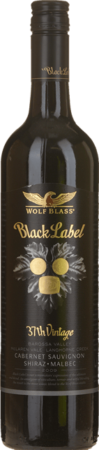 WOLF BLASS WINES Black Label, South Australia 2009