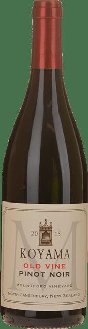 KOYAMA Mountford Vineyard Old Vines Pinot Noir, Waipara 2015