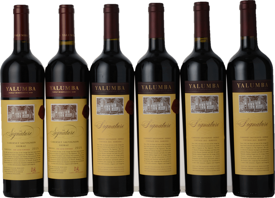 YALUMBA The Signature Vertical Six-Pack (2015, 2014, 2013), Barossa Valley MV