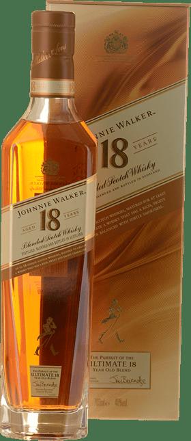 JOHNNIE WALKER 18 Year Old Blended Scotch Whisky 40% ABV, Scotland NV