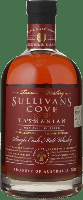 SULLIVANS COVE Rare Single Cask Malt Small Batch Selection Whisky 47.5% ABV Barrel No. PB0978, Tasmania NV