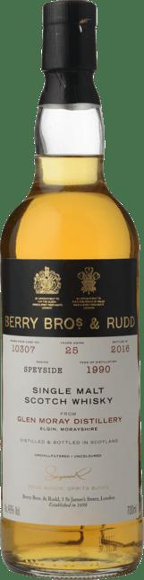 BERRY BROS & RUDD Glen Moray Distillery 25 Y.O. 46% ABV , Scotland NV
