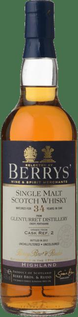 BERRY BROS & RUDD Glenturret Distillery 34 Y.O. , The Highlands NV