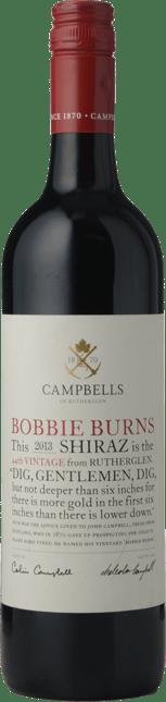 CAMPBELLS WINES Bobbie Burns Shiraz, Rutherglen 2013
