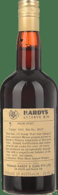 HARDY'S BIN M127 Show Tawny Port, McLaren Vale 1951