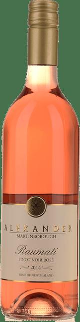 ALEXANDER VINEYARD Raumati Pinot Noir Rose, Martinborough 2014