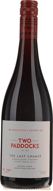 TWO PADDOCKS The Last Chance Pinot Noir, Central Otago 2012