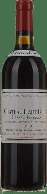 CHATEAU HAUT-BAILLY Grand cru classe, Pessac-Leognan 1989