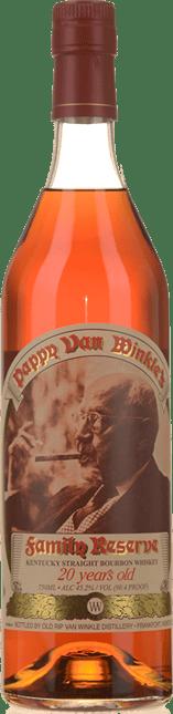 OLD RIP VAN WINKLE Pappy Van Winkle's Family Reserve 20 Years Old Bourbon 45.2% ABV, Kentucky NV