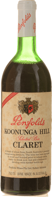 PENFOLDS Koonunga Hill Claret Cabernet Blend, South Australia 1976