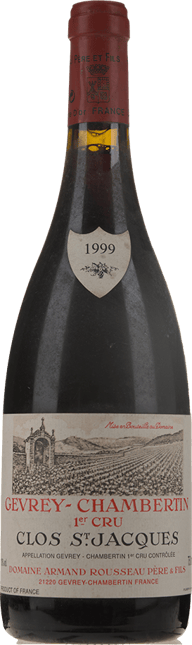 DOMAINE ARMAND ROUSSEAU Clos St Jacques 1er cru, Gevrey-Chambertin 1999