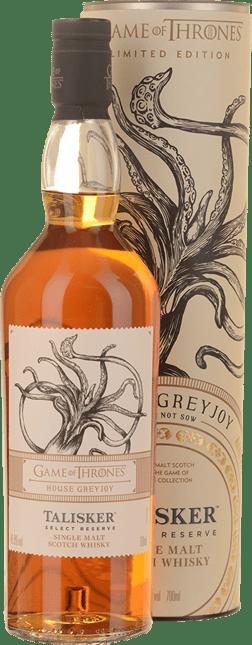 TALISKER Game of Thrones House Grey Joy Single Malt Scotch Whiskey 45.8% ABV, Skye NV