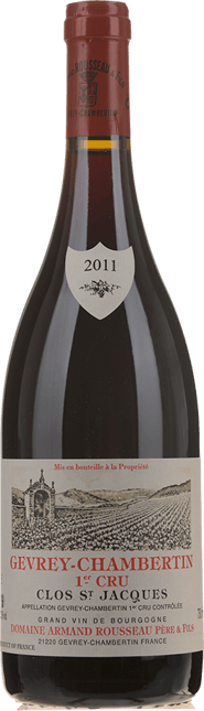DOMAINE ARMAND ROUSSEAU Clos St Jacques 1er cru, Gevrey-Chambertin 2011
