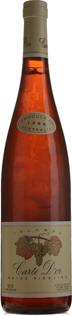 YALUMBA Carte D'or Riesling, South Australia 1986